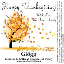 thanksgiving water bottle labels personalized labels swedish hill winery