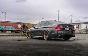 custom black bmw f10 bmw m5 wrapped in black sapphire metallic on adv 1 wheels