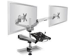 monitor and keyboard arm desk mount mount it mi 75821 premium laptop keyboard platform with a dual