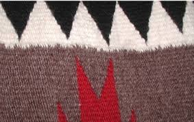 Wool Indian Rugs Native American Navajo Hand Woven Rug Teec Nos Pos General Pattern