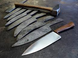 kitchens knives progression in forging a kitchen knife by nick knives