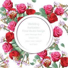 cool elegant floral wedding card vector my wedding site