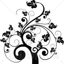 simple black and white tree design clipart library free