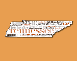 tennessee memphis knoxville nashville word art typography wall