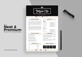 Resume Indesign Template Free Neat U0026 Premium Resume Template Design