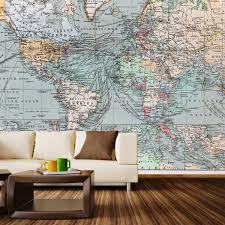 vintage world map wall mural decal 100