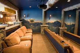 themed room ideas tropical themed room ideas home theater rustic with crestron