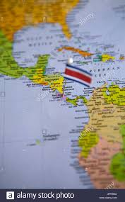 Panama World Map by Flag Pin Placed On World Map In The Capital Of Costa Rica San Jose