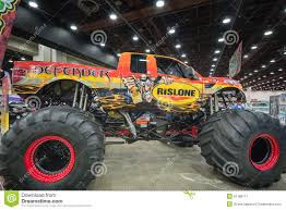 monster truck show detroit defender a 2014 ford f 150 raptor stock photo image 51188111