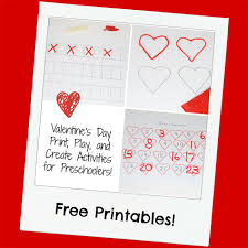 valentine u0027s day print play and create activities for