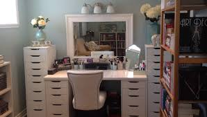 Beautiful Makeup Vanities Vanity Table Set With Lights Crystal Table Lamp And White Makeup