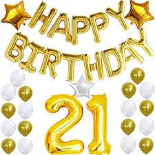 21st Party Decorations Amazon Com 21st Birthday Decorations Party Kit Happy Birthday