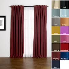 Red Blackout Blind Solid Insulated Thermal 84 Inch Blackout Curtains Block Light