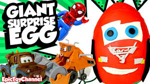 cars 3 movie surprise egg with spider man surprise and disney cars