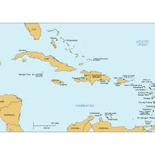 map with labels caribbean powerpoint map with countries capital cities labels