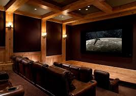 Melrose Park Theater For A Traditional Home Theater With A - Home theater design group