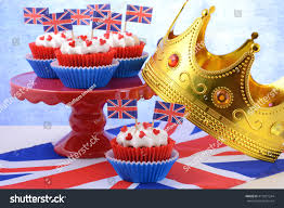 Dessert Flags Holiday Party Cupcakes Uk Flags On Stock Photo 417831244