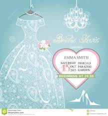 wedding shower invitation bridal shower invitation wedding lace dress on stock vector