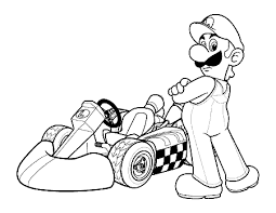 mario cart car coloring pages coloring