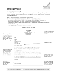 is a cover letter necessary for a resume cover letter necessary