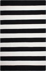 fab habitat nantucket striped black white indoor outdoor area rug