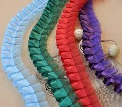 pleated ribbon free shipping plain pleated gathered lace edge fabric trim ribbon