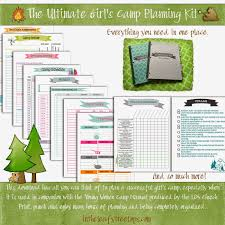 camping menu planner template mormon mom planners monthly planner weekly planner ultimate this download kit includes