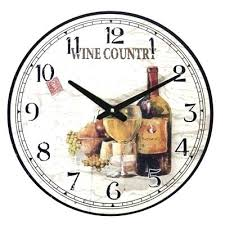 themed clocks wine wall clocks wine bottle wall clock kitchen vineyard winery