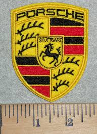 stuttgart porsche logo 3110 c discontinued porsche logo embroidery patch