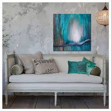 large wall art canvas turquoise abstract painting teal home