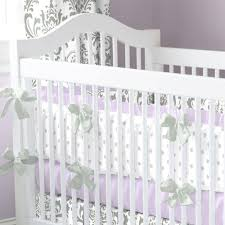 lilac and gray traditions damask crib bedding carousel designs