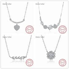 sted necklace noel 100 925 sterling silver necklace heart geometric