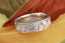 leaf wedding band oak leaf eternity wedding band