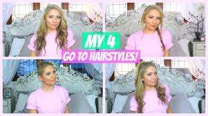 on the go hairstyles my 4 go to easy hairstyles youtube