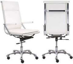 zuo modern 215232 lider plus high back office chair white with