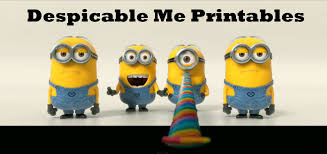 free printables activities animated movie despicable