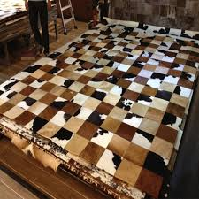 Cow Area Rug Aliexpress Com Buy Brown Style Natural Cow Hide Patchwork Area