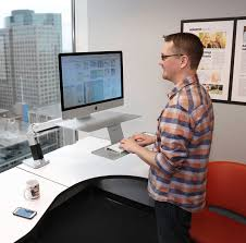 Standing Desk Ergotron Ergotron 24 414 227 Workfit A Standing Desk Arm For Apple Imac