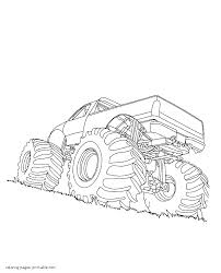 trucks with big wheels coloring pages