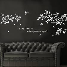 black removable tree branches birds vinyl wall sticker decor decal detail image