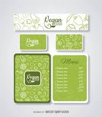vegan food restaurant menu template vector download