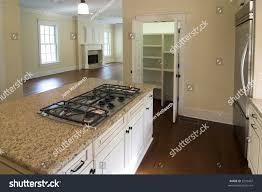 elegant kitchen livingroom open floor plan stock photo 3232497
