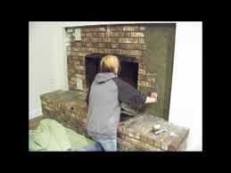 How To Update Brick Fireplace by Chic On The Cheap Fireplace Makeover Youtube