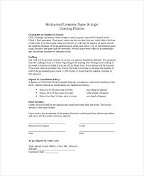 collection of solutions free sample proposal letter for catering