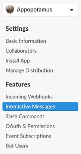 messages interactive slack