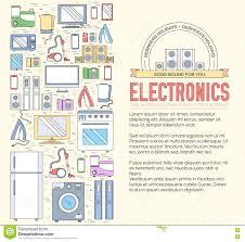 home electronics appliances circle infographics template concept