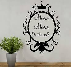 Mirror Mirror On The Wall Snow White Mirror Style Personalised Wall Quote Sticker Decal Kids Snow