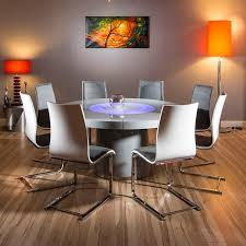 Round Dining Table For 8 With Lazy Susan Large Round Grey Gloss Dining Set Table Lazy Susan Plus 8 Grey