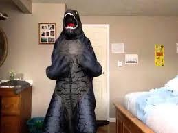 Godzilla Halloween Costumes Inflatable Godzilla Costume Review