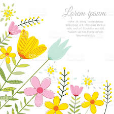 vector illustration of a beautiful floral border with spring